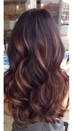 chocolate hair with lowlights - Google Search by MyohoDane