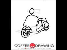 [how to draw Scooter] สอนเด็กวาดรูปการ์ตูน สกู๊ตเตอร์ ตามขั้นตอนง่ายๆ