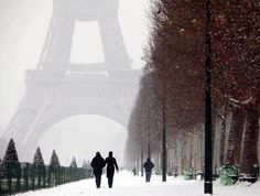 Paris in winters. The sight is awesome!