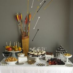 """Hunger Games Dessert Table 
