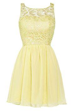 Ellames Lace Bridesmaid Short Prom Dress Homecoming Party Dresses for Juniors Yellow US 18Plus Ellames http://www.amazon.com/dp/B00WTTT8F8/ref=cm_sw_r_pi_dp_tYTJwb1G54QB0