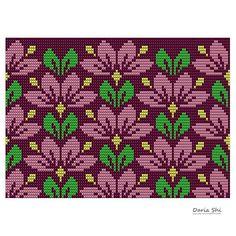 No photo description available. Tapestry Crochet Patterns, Crochet Mandala Pattern, Needlepoint Patterns, Cross Stitch Rose, Cross Stitch Flowers, Cross Stitch Embroidery, Cross Stitch Designs, Cross Stitch Patterns, Knitting Charts