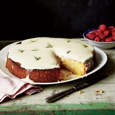 Almond Cake with Lemon and Crème Fraîche Glaze // More Brilliant Cakes: http://www.foodandwine.com/slideshows/cakes #foodandwine