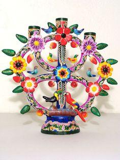 Trendy Tree Of Life Mexican Frida Kahlo Mexican Crafts, Mexican Folk Art, Mexican Style, Latino Art, Tree Of Life Art, Mexican Ceramics, Day Of The Dead Art, Talavera Pottery, Mexico Art