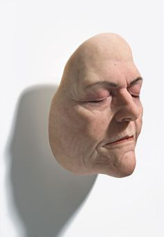 'Women's Face II' by Sam Jinks  mixed media, 2008