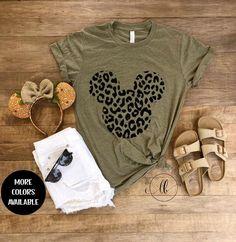 Minnie Cheetah Tee Mouse Leopard Shirt Animal Kingdom Shirt Women Disney Shirt Adult Disney Shirt Disney World Shirt Disneyland - Vinyl Shirt - Ideas of Vinyl Shirt -