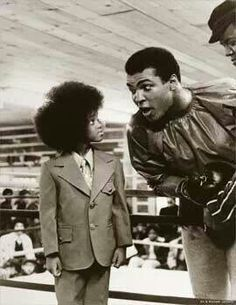 Late sixties~ Mohammed Ali & Michael Jackson! Awesome pic. .