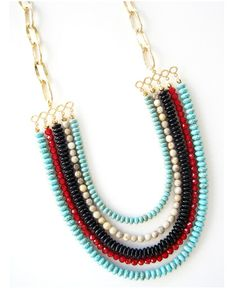 Multi Color 5-Strand Necklace - JewelMint
