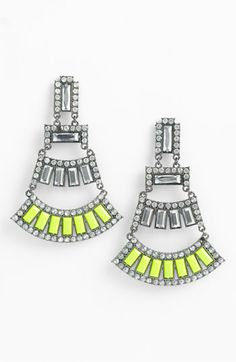 For your neon loving friend - Jewelry Fashions Bead & Crystal Earrings Green