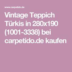 Vintage Teppich Türkis in 280x190 (1001-3338) bei carpetido.de kaufen
