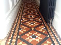 Here's a job I completed just before Christmas last year, at a house in Northa… – Architecture - Diy Techniques Hall Tiles, Tiled Hallway, Victorian Hall, Victorian Tiles, Cultural Architecture, Residential Architecture, Quarry Tiles, Hall Flooring, Geometric Tiles