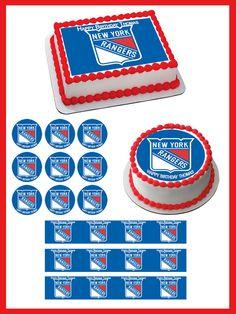 New York Rangers Edible Birthday Cake Topper