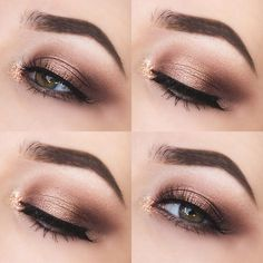 Glittery Autumn Eyes Too Faced Chocolate Bar Palette Look.