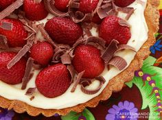 Strawberry Tart Recipe...I haven't made it yet, but it's on my list to try. It looks delicious!!