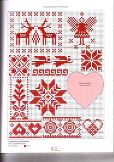Scandinavian Christmas • I like some of the designs on this and see them used as decorations and even gift tags.