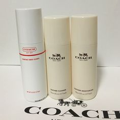 Coach cleaner&moisterizer set All brand new sealed. Authenic. Size 177ml each. Coach signature fabric cleaner, coach leather cleaner, and coach leather moisterizer.  Coach Other