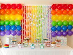 Boy's Rainbow Themed Birthday Party