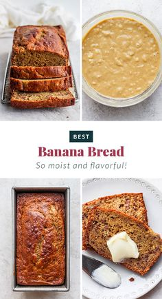 Whip up a batch of this easy healthy banana bread and top it with some butter for the best snack or breakfast. Healthy Muffin Recipes, Healthy Muffins, Healthy Dessert Recipes, Baking Recipes, Snack Recipes, Snacks, Healthy Baking, Fall Recipes, Healthy Meals
