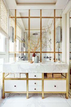 Salle De Bain Luxe Et Deco Style Glamour Avec Touche Dor