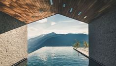 Miramonti Boutique Hotel - luxury hotel in merano, italy. Between snow-capped mountains and emerald forests, Miramonti Boutique Hotel is in a magical setting. Spa Hotel, Hotel Pool, Design Hotel, Chalet Design, Design Design, Interior Design, Spas, Hotel Alpen, Hotel Berg