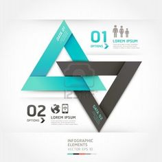 Modern arrow origami style options banner. Vector illustration. can be used for workflow layout, diagram, number options, step up options, web design, infographics. Stock Photo - 18052533