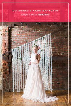 DIY papel picado inspired backdrop with Fiskars   http://ruffledblog.com/diy-papel-picado-backdrop