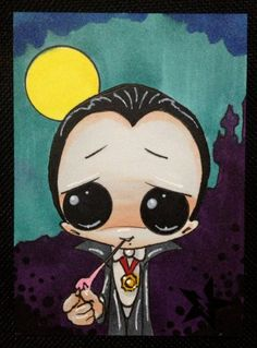 j-- Dracula -- Sugar Fueled Big Eye ACEO mini print