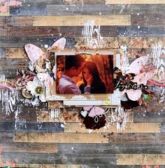 Scraps of Elegance scrapbook kits: 'love' mixed media layout created with our…