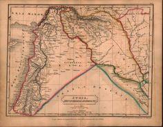 Syria Mesopotamia Assyria Middle East Antique Map 1822