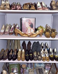 "Part of Streisand's antique shoe collection. ""My Passion for Design""/Viking - HarpersBAZAAR.com"