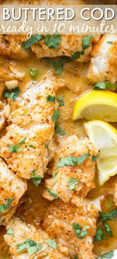 simple and quick recipe for Buttered Cod in Skillet. Seasoned cod fillets in butter herbs and lemon. The amazing recipe is ready from start to finish in under 10 minutes perfect for a lazy dinner. Enjoy the fish with a side of mashed potatoes. Cod Fillet Recipes, Cod Fish Recipes, Quick Recipes, Seafood Recipes, Cooking Recipes, Healthy Recipes, Frozen Fish Recipes, Recipe For Cooking Cod Fish, Recipes With Fish Fillets