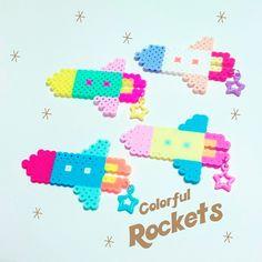 カラフルロケットブローチ