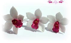 Купить орхидеи для украшения прически - орхидея, заколка Орхидея, украшения ручной работы, цветы в прическу