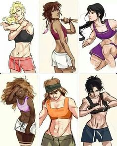Colored version of the girls in the PJO/HOO series by Viria. Annabeth Chase, Piper Mclean, Reyna, Hazel Levesque, Clarisse, and Thalia