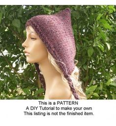 Instant Download Knitting Pattern - Knit Hat Knitting Pattern - Knit Hat Pattern for The Spring Pixie Hat - Womens Hat - Chunky Knit