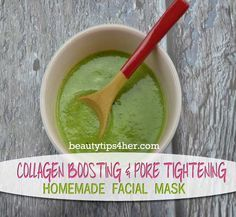 Homemade Collagen Boosting and Pore Tightening Facial Mask   DIY Beauty Skincare and Health Tips