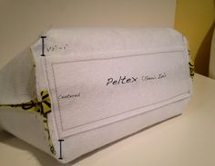"""Sewplicity: Construction Tips for Making a Structured Tote:   2 pieces of Fusible Fleece identical to your 2 main exterior pieces.  Firm Peltex 1/2"""" - 1"""" smaller all around than the bottom of your bag"""