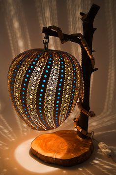 Gourd Lamp The Blue Way by TheColorsofTheArt on Etsy