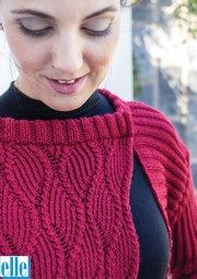 Cardigan  Brand: Elle Count:Double Knit Yarn:Pure Gold Size From:82 cm Size To:107 cm