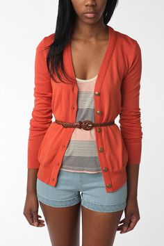 Another poppy cardigan.  I think that I'm going to have to break down and buy one of these.  $38