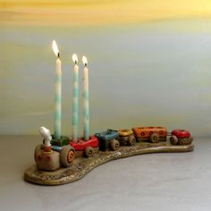 Hanukkah Menorah  Hanukkah decoration  Children Menorah by ednapio