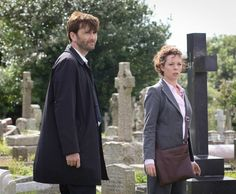 David and Olivia in Broadchurch David Tennant, Broadchurch, Crime, Suit Jacket, Instagram Posts, Detective, Don't Forget, Fan, Fashion