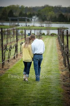 Fauquier Fotos | Warrenton, VA | Posts, Engagement Portraits, Old House Vineyards, Culpeper, VA, Romantic, Love, pond, fountain, Save the Date