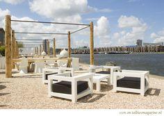 Harbour Club Amsterdam, like the Saint Tropez atmosphere with the Amsterdam Zeeburg view..