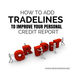 Adding tradelines to
