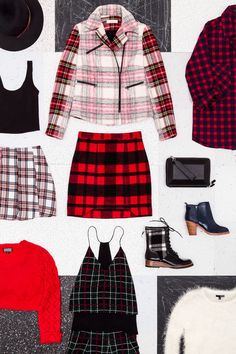 Back to school plaid prints