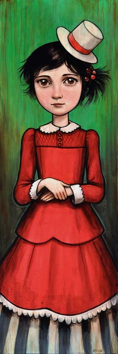 Kelly Vivanco - Art - Girl With the White Hat