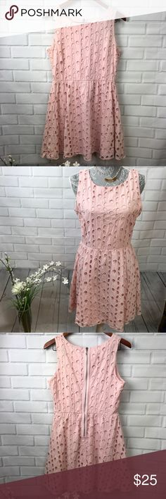 Pink Floral Cutout Dress Sz L Pink Floral Cutout Dress  • gently used preowned condition Dresses