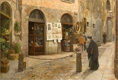 Arturo Ferrari, Via San Bernardino, 1912. Un dipinto per immaginare la vecchia Milano...