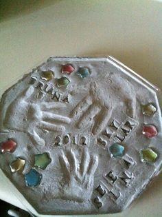 Hand print stepping stone
